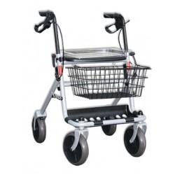 Rollator 4 roues aluminium